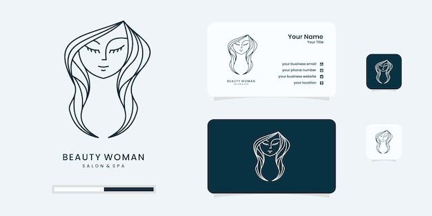 Logotipo de belleza para salón con inspiración de diseño de logotipo de estilo moderno.