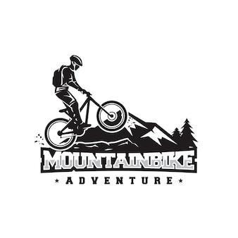 Logotipo de bicicleta de montaña