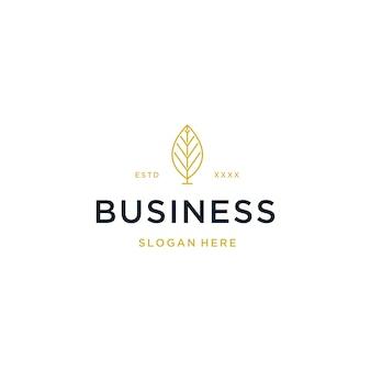 Logotipo de bienes raíces de lujo