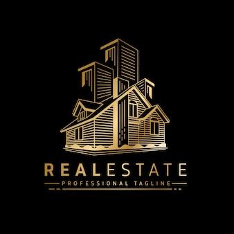 Logotipo de bienes raíces