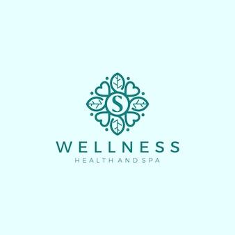 Logotipo de bienestar con un diseño moderno simple y limpio con un elegante estilo de línea de arte para masajes de yoga o spa