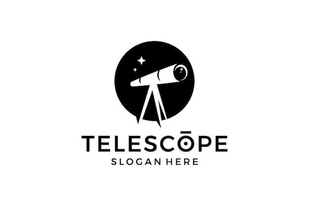 Logotipo de binoculares en la noche