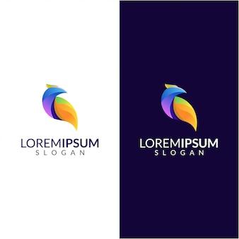 Logotipo de bird awesome color