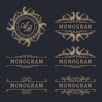 Logotipo de boda de lujo