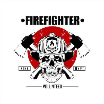 Logotipo de bombero