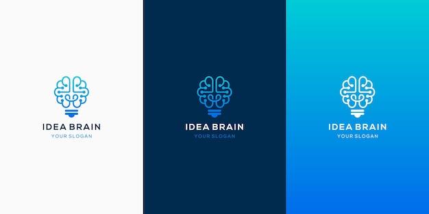 Logotipo de la bombilla del cerebro