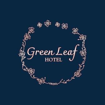 Logotipo botánico del hotel.