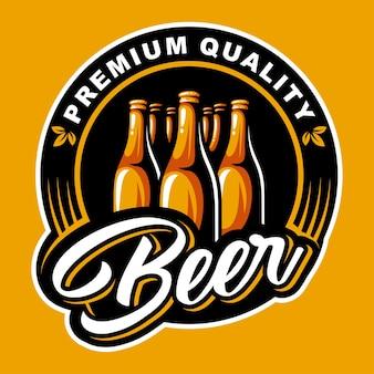 Logotipo de botella de cerveza
