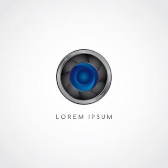 Logotipo de botón de fotografía de la cámara