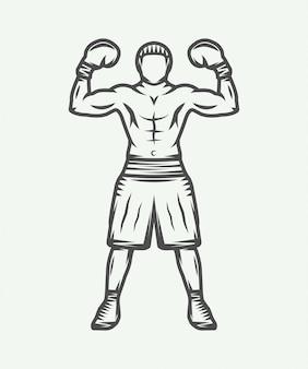 Logotipo del boxeador