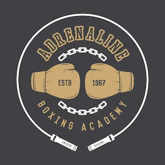 Logotipo de boxeo y artes marciales.