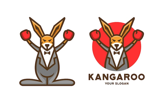 Logotipo de boxeo canguro