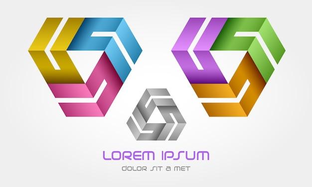 Logotipo en bucle de triángulo creativo
