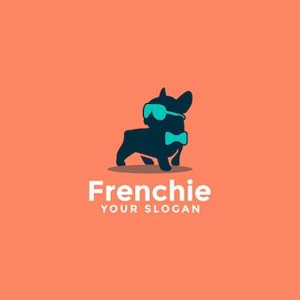 Logotipo de bulldog francés de lujo