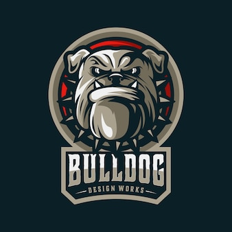 Logotipo de bulldog