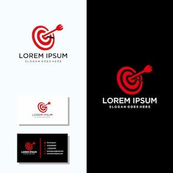 Logotipo de bulls eye con diseño de tarjeta de presentación.