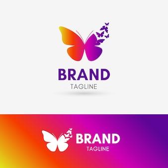 Logotipo de butterfly morph