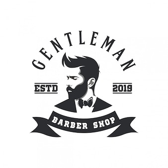 Logotipo de caballero barber shop