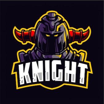 Logotipo de caballero guerrero