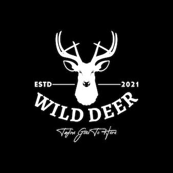 Logotipo de cabeza de ciervo para club de caza