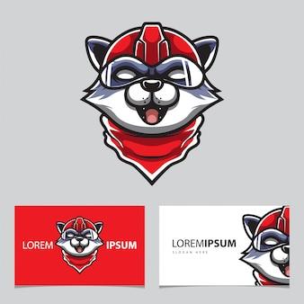 Logotipo de cabeza de gato robótico