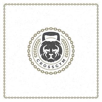 Logotipo de cabeza de león de peso