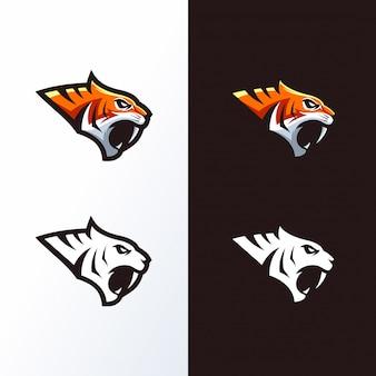 Logotipo de cabeza de tigre listo para usar