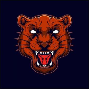 Logotipo de la cabeza del tigre