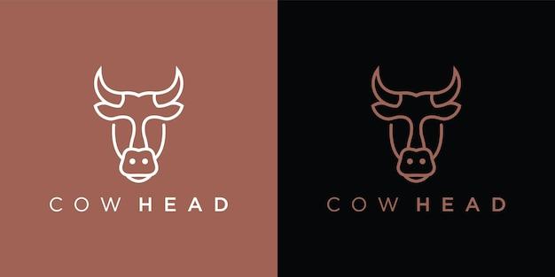 Logotipo de cabeza de vaca
