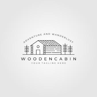 Logotipo de cabina de arte lineal