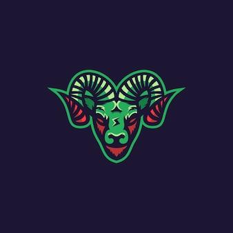 Logotipo de cabra impresionante inspiración