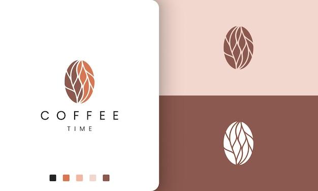 Logotipo de café abstracto en forma moderna y única