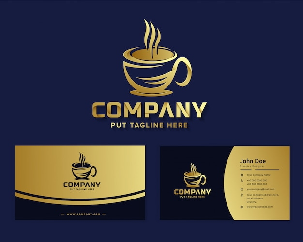 Logotipo de café de lujo premium para empresa comercial