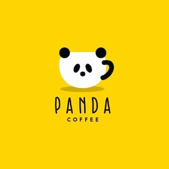 Logotipo de café panda creativo