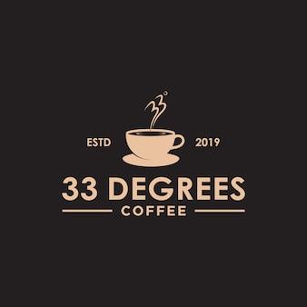 Logotipo de café vintage