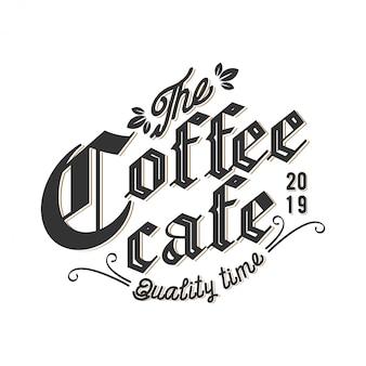Logotipo para cafeterías o etiquetas de productos de café.