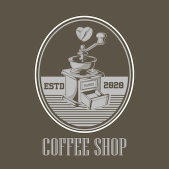Logotipo de caffe shop vintage