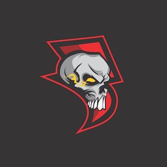 Logotipo de calavera trueno
