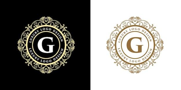Logotipo caligráfico victoriano heráldico de lujo retro vintage antiguo con marco ornamental