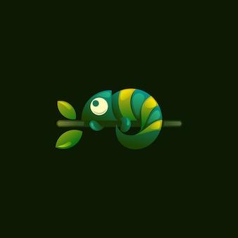 Logotipo de camaleón moderno.