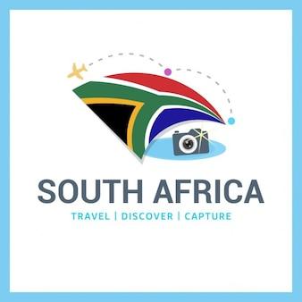 Logotipo de cámara con bandera de sudáfrica