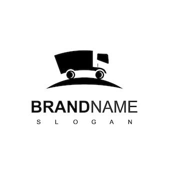 Logotipo de camión para empresa de logística y viajes