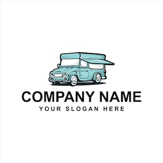 Logotipo de camión de helados