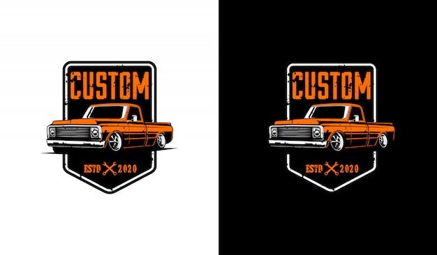 Logotipo de camioneta clásica