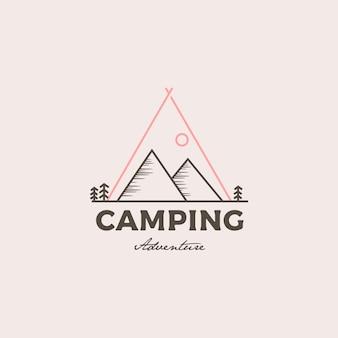 Logotipo de camping