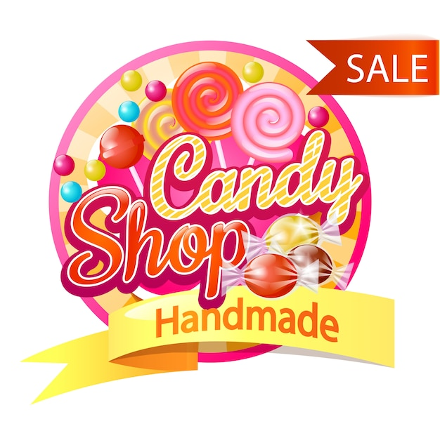Logotipo de candy shop