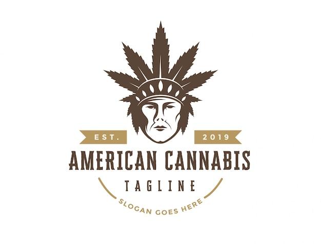 Logotipo de cannabis americano