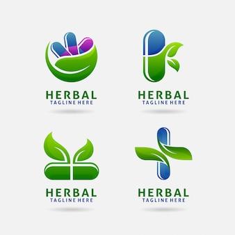 Logotipo de la cápsula de hierbas