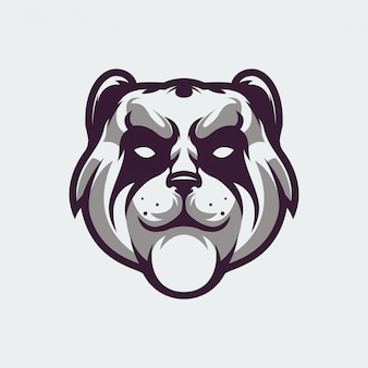 Logotipo de cara de panda