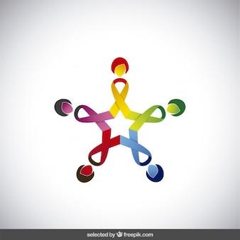 Logotipo de la caridad con forma de estrella